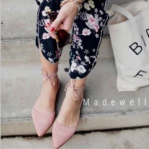 Madewell NEW lace up D'orsay flats Arielle sandal